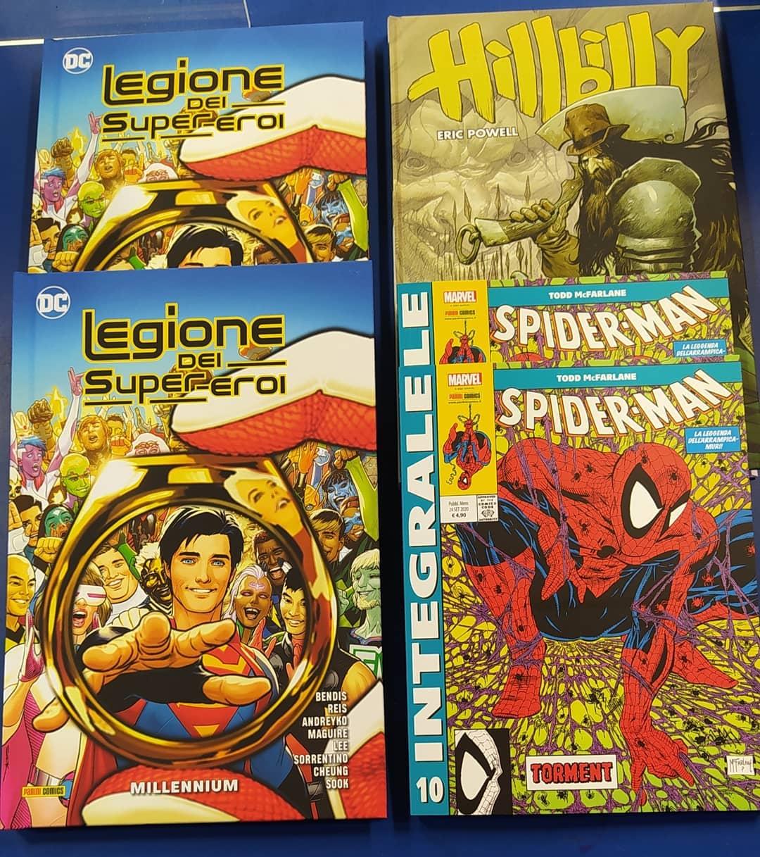 Panini comics e DC legione supereroi hillbilly spiderman nuove 22 settembre 2020