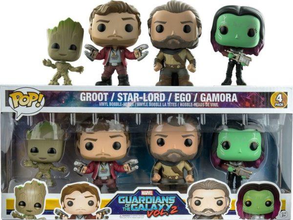 Funko Pop Guardians of the Galaxy Vol.2 Set Groot Star Lord Ego Gomora