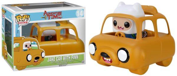 Funko Pop Jake car with Finn Adventure Time n.14