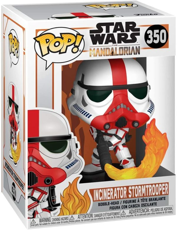 Funko Pop Star Wars The Mandalorian Incenerator Stormtrooper n.350